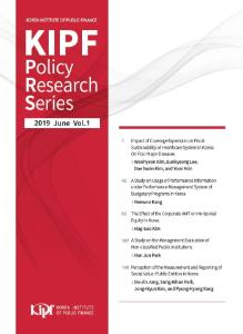 KIPF Policy Research Series Vol. 1 cover image
