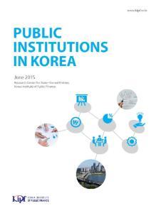 Public Institutions in Korea 2015 cover image