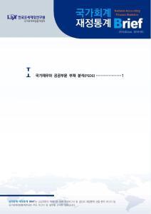 [국가회계 재정통계 Brief (2019-01호)] 국가채무와 공공부문 부채 분석(PSDS) cover image