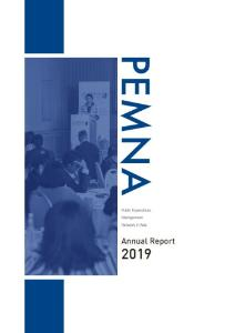 PEMNA Annual Report 2019 cover image