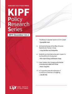『KIPF Policy Research Series』(2019 December Vol.2) cover image