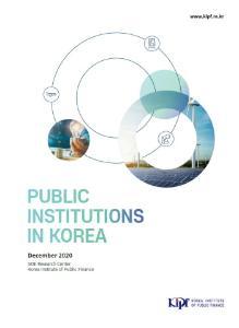 Public Institutions in Korea 2020 cover image