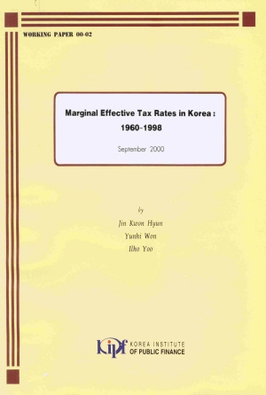 Marginal Effective Tax Rates in Korea: 1960~1998 cover image