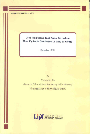 Does Progressive Land Value Tax Induce More Equitable Distribution of Land in Korea? cover image